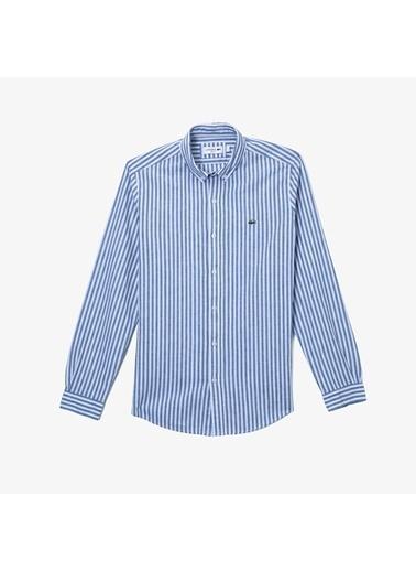 Lacoste Erkek Slim Fit Düğme Gömlek CH0054.54M Mavi